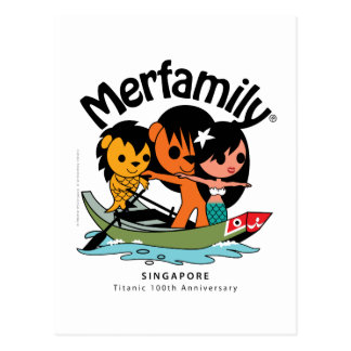 "MERFAMILY® Singapore ""Titanic Keepsake"" Postcard"