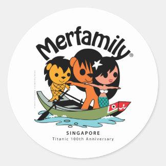 "MERFAMILY® Singapore ""Titanic Keepsake"" Round Sticker"