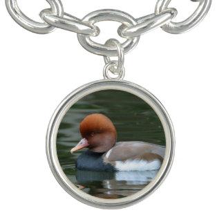 Merganser Duck charm bracelet