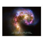 Merging Galaxies - The Antennae Galaxies Postcard