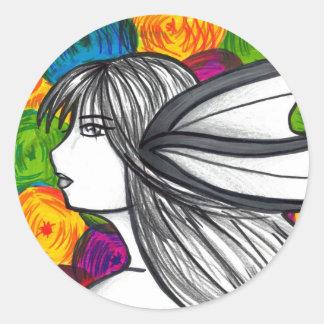 Mergirl of the Neon Lights Classic Round Sticker