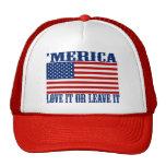 'MERICA American Flag - Love It Or Leave It Hat