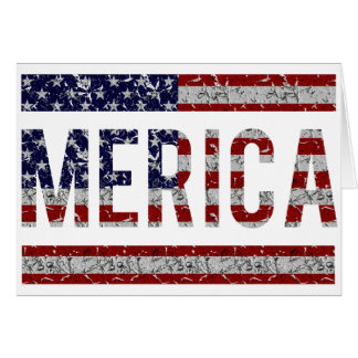 MERICA - American Pride Slang USA Flag Card