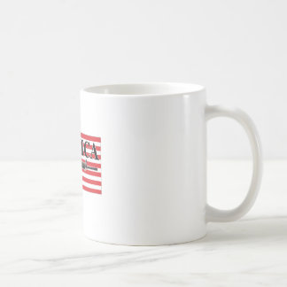 Merica Distressed Rifle Shirt h.png Coffee Mug