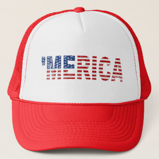 'MERICA Distressed US Flag Hat