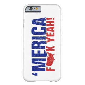 'Merica Fck Yeah! Patriotic American Red and Blue Barely There iPhone 6 Case