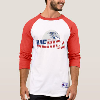 'MERICA Flag And Bald Eagle T-shirt