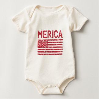 Merica Flag Baby Bodysuit