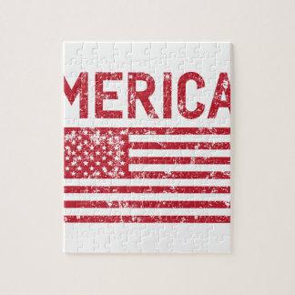Merica Flag Jigsaw Puzzle