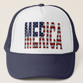 'MERICA - Grunge USA Flag Trucker Hat