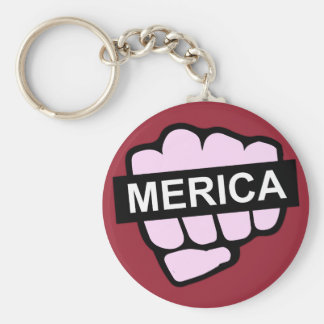 Merica in Your Face Keychain
