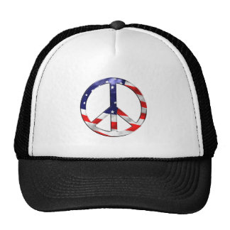 merica peace sign trucker hat