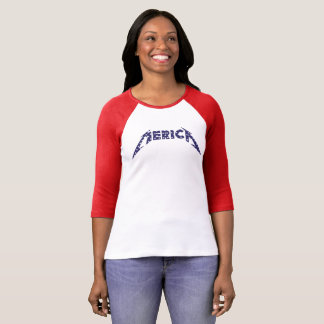 'Merica Shirt in Band Font - Blue with White Stars