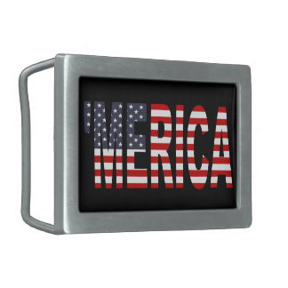 'MERICA US Flag Belt Buckle