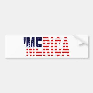 'MERICA US Flag Bumper Sticker