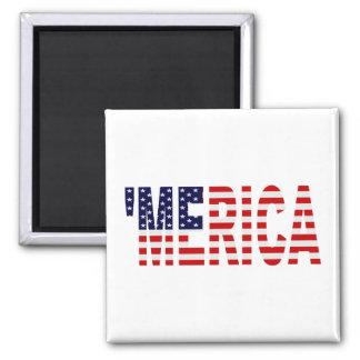 'MERICA US Flag Magnet