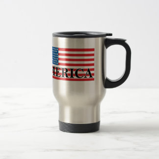 'MERICA US Flag Vintage Distressed T-shirt j.png Travel Mug