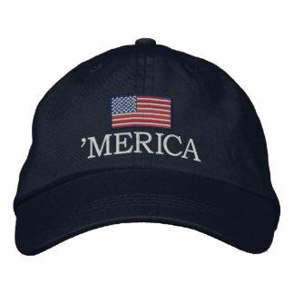 Merica - with USA flag Baseball Cap