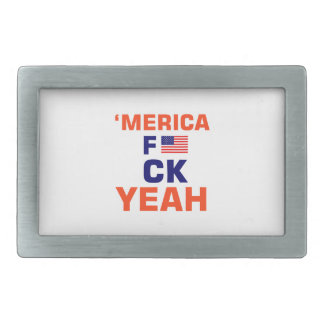 Merica Yeah tshirts Belt Buckle