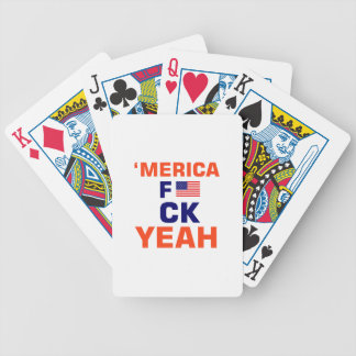 Merica Yeah tshirts Bicycle Playing Cards