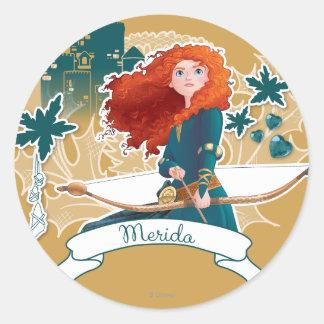 Merida - Brave Princess Round Sticker