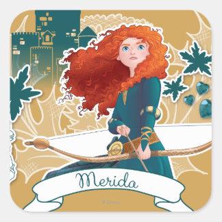 Merida - Brave Princess Square Sticker
