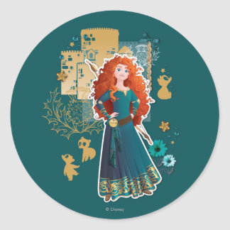 Merida - Confidence Makes Me Brave Round Sticker