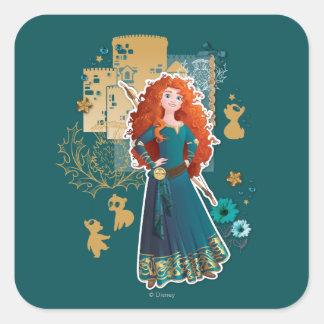 Merida - Confidence Makes Me Brave Square Sticker