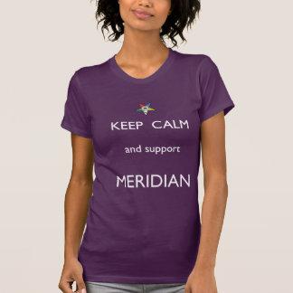 Meridian Keep Calm Tee White Font