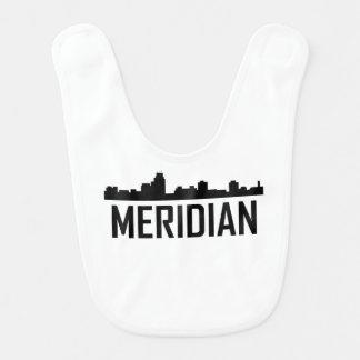 Meridian Mississippi City Skyline Bib