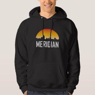 Meridian Mississippi Sunset Skyline Hoodie