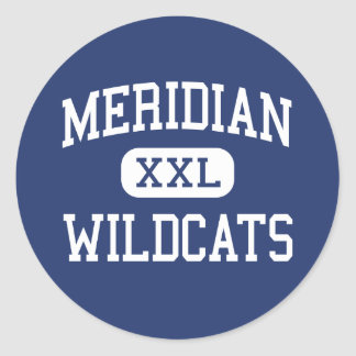 Meridian - Wildcats - High - Meridian Mississippi Classic Round Sticker