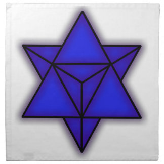 Merkaba Blue Cloth Napk