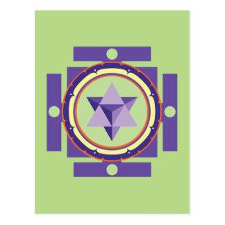 Merkaba Mandala Postcard