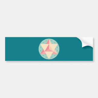Merkaba on Flower of life Bumper Sticker