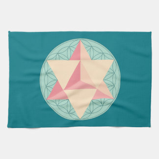 Merkaba on Flower of life Kitchen Towel
