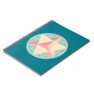 Merkaba on Flower of life Notebook