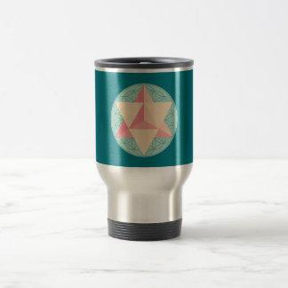 Merkaba on Flower of life Travel Mug