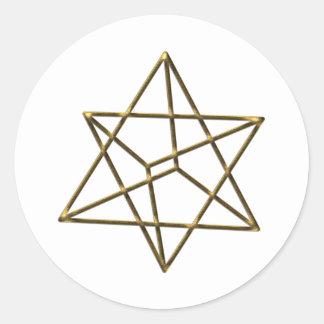 Merkaba - star tetrahedron - Metatrons cube Classic Round Sticker