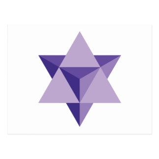 Merkaba Star Tetrahedron Postcard