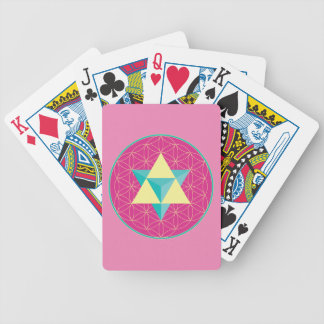 Merkaba with Flower of life Bicycle Playing Cards