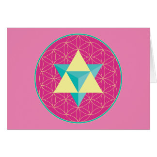 Merkaba with Flower of life Card
