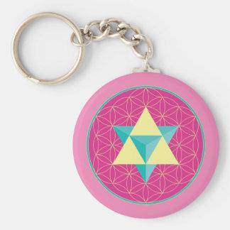 Merkaba with Flower of life Keychain