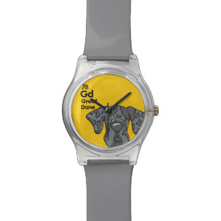 Merle Great Dane Natural Ears - The Dog Table Watch
