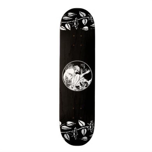 Merlin Art Nouveau fantasy Skate Boards