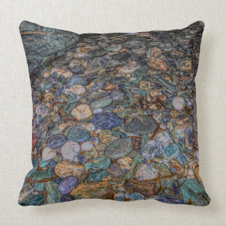 Merlin's cave pebbles throw pillow
