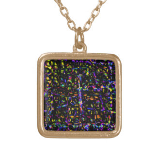 Merlins Window by Valxart.com Gold Plated Necklace
