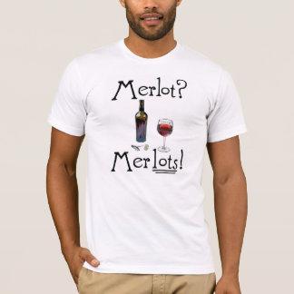 Merlot? Merlots! Tee.  Funny wine shirt