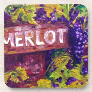 Merlot on the Vine Coasters