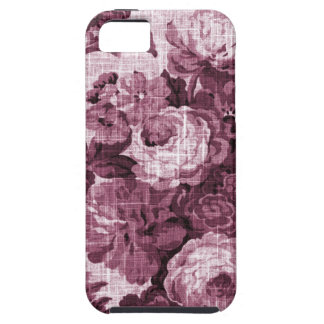 Merlot Red Vintage Floral Toile Fabric No.4 Case For The iPhone 5